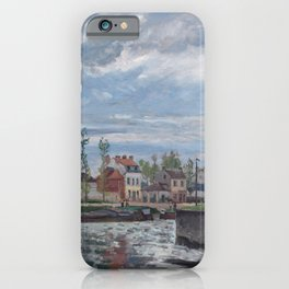 The Lock at Pontoise by Camille Pissarro iPhone Case