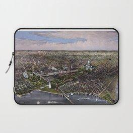 The City Of Washington - Birds-Eye View Laptop Sleeve