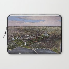 The City Of Washington - Birds-Eye View Laptop Sleeve