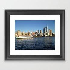 Manhattan, New York City, View from Hudson River Framed Art Print