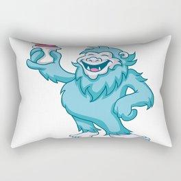 cartoon yeti eating ice cream Rectangular Pillow