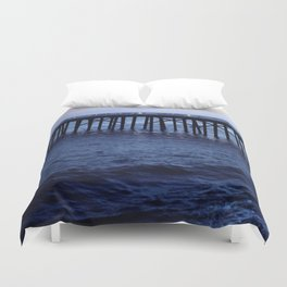Dark Malibu Duvet Cover
