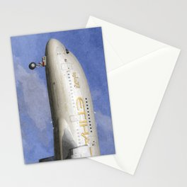 Etihad Airlines Airbus A380 Art Stationery Cards