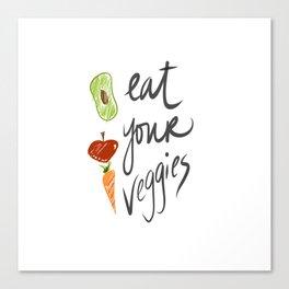 Eat Your Veggies Canvas Print