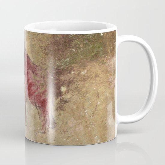 Cave art vintage mamut. Mug