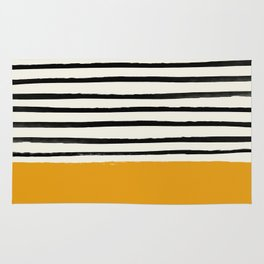 Fall Pumpkin x Stripes Rug