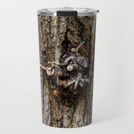 Tree bark with branch stump Travel Mug