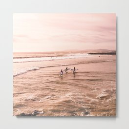 San Diego Surfing Metal Print