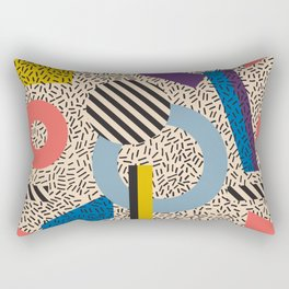 Memphis Inspired Pattern 3 Rectangular Pillow