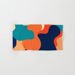 Retro 70's and 80's colorful fluid abstraction Hand & Bath Towel