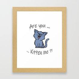 U Kitten Me? Framed Art Print