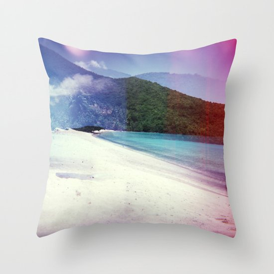 St John, USVI Multiple Exposure II Throw Pillow