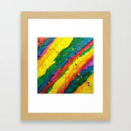 Rainbow Abstract #11 Framed Art Print