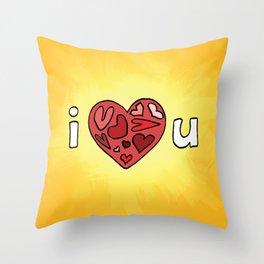i heart u Throw Pillow