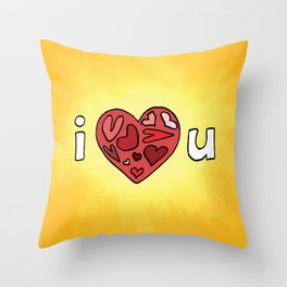 i heart u Throw Pillow