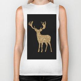 Sparkling golden deer - Wild Animal Animals Biker Tank
