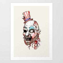 Captain Zombie Art Print