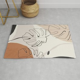 Minimal Abstract Art- Monstera Rug