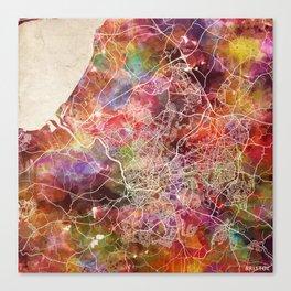 Bristol map Canvas Print