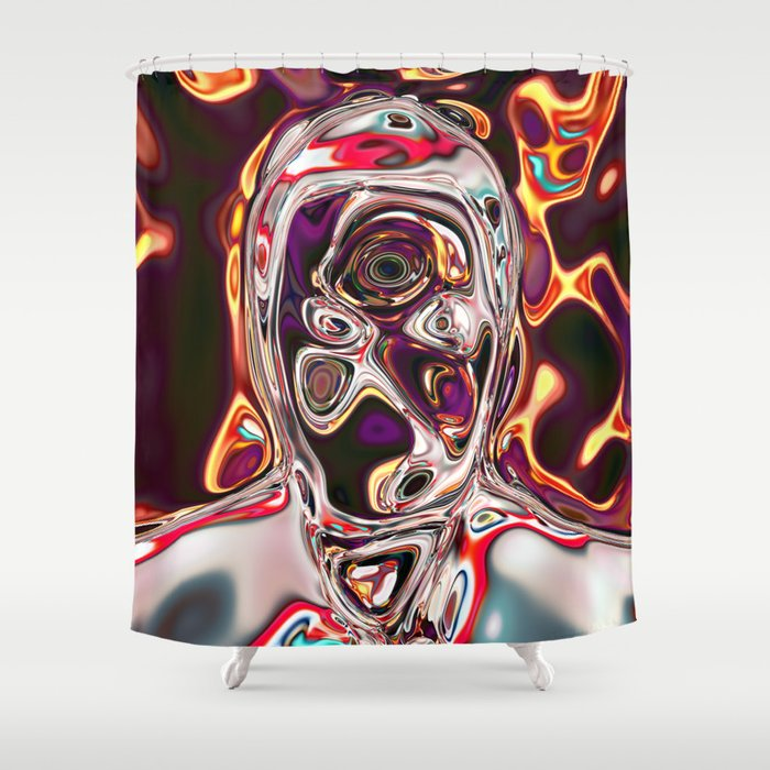 Neural Portrait 1 Shower Curtain