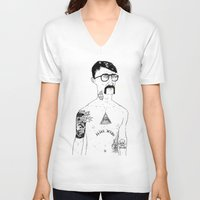 stanley kubrick V-neck T-shirts featuring Stanley by David Penela