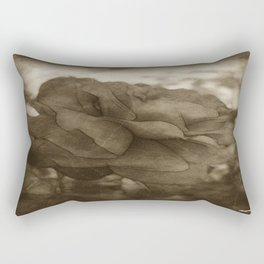 Red Rose Edges Antiqued Rectangular Pillow