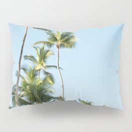 For the love of palmtrees | Dominican republic travel photography print Pillow Sham