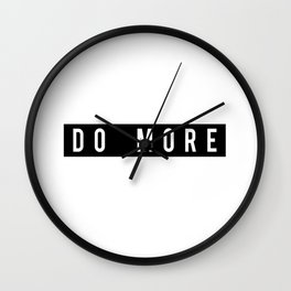 Do More Motivational Fitness Gym Workout Wall Clock