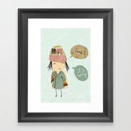 """I like London in the rain"" Framed Art Print"