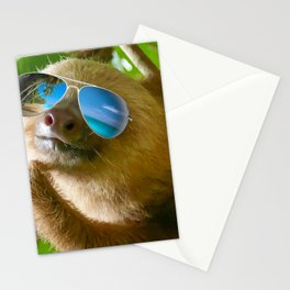 Sloth with Sunglasses, Chillin' Stationery Cards