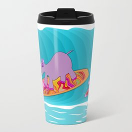 Just Like Momma - Hippos Surfing Travel Mug