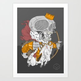 The Four Horsemen of the Apocalypse (White) Art Print