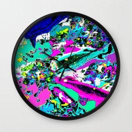 Neon Koi (Pastel) Wall Clock