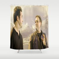 stargate Shower Curtains featuring Goodbye Carson by Samy