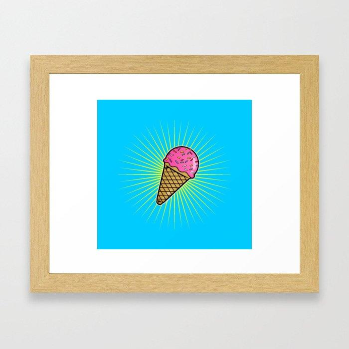 Delicious Ice Cream Framed Art Print
