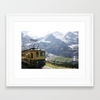 train Framed Art Prints featuring Train by Kakel-photography