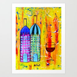 Wine Houses II. Art Print