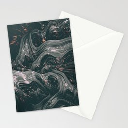 turne II. Abstract Charcoal Melt Stationery Cards