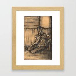 The Prayer Framed Art Print