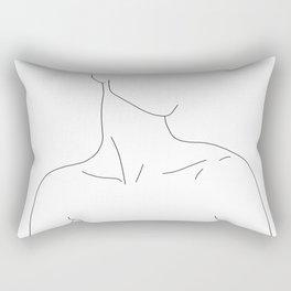 Neckline collar bones drawing - Gwen Rectangular Pillow