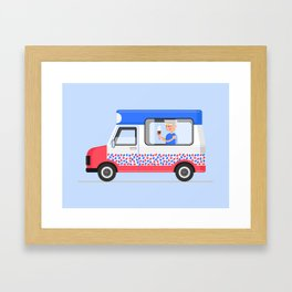 Ice-cream Truck Framed Art Print