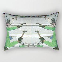 Dogs at Work Rectangular Pillow