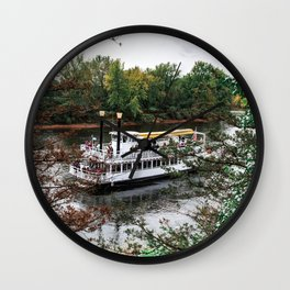 Riverboat and Fall Colors-Minnesota Wall Clock