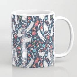 Cat and flowers pattern Coffee Mug