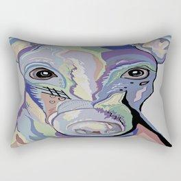 Greyhound in Denim Colors Rectangular Pillow