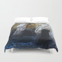 san diego Duvet Covers featuring Cliffs of San Diego by Tdrisk46