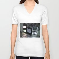 tv V-neck T-shirts featuring Bollywood Televisions by BOLLYWOOD