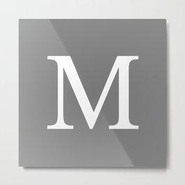 Darker Gray Basic Monogram M Metal Print