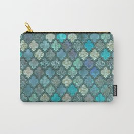 Moroccan Inspired Precious Tile Pattern Carry-All Pouch
