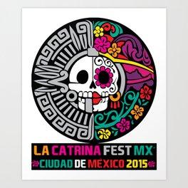 La Catrina Fest MX 2015 Art Print